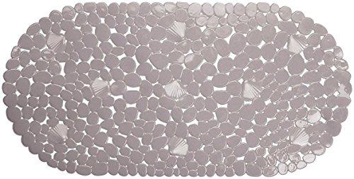 Succsale - BADEWANNENEINLAGE 66x35cm Grau- Steinoptik Wanneneinlage Badewannenmatte-OVAL