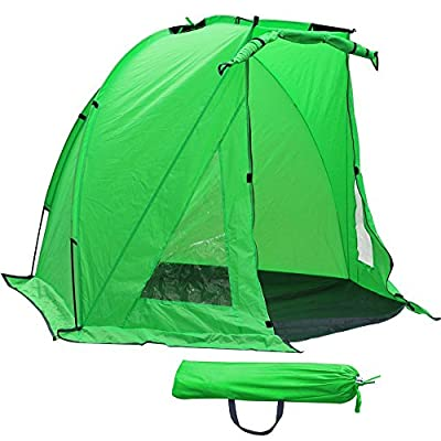 Popamazing Waterproof Fishermans Shelter Fishing Bivvy Beach Garden Camping Wind Festival Sun Shade Tent?Green from Popamazing