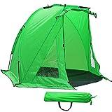 Popamazing Waterproof Fishermans Shelter Fishing Bivvy Beach Garden Camping Wind Festival Sun Shade Tent,Green