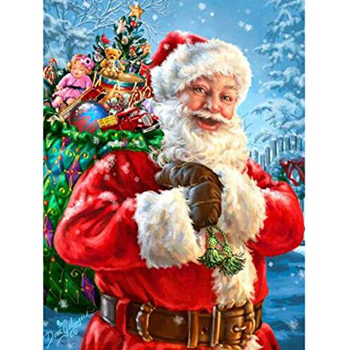 "Transer Full Square/Round Drill 5D DIY Diamond Painting""Christmas Santa Claus"" 3D Embroidery Cross Stitch Mosaic Decor"