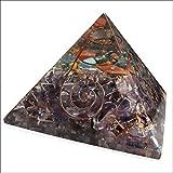 Orgon-Generator Pyramide, Orgonit aus Amethyst Edelsteinen und Metallen, wandelt negative energie in positive energie - 65mm