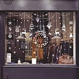 LWY HOME Weihnachten Schneeflocke Lichter Schaufenster Glas Wanddekoration Wandaufkleber...