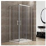 90x70cm Eckeinstieg Duschkabine Sicherheitsglas Schiebetür Eckdusche Duschabtrennung Duschschiebetür Glas