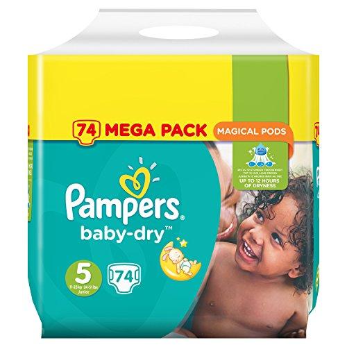Preisvergleich Produktbild Pampers Baby-Dry Windeln Mini Größe 5(Junior) 11–23KG X74Schichten