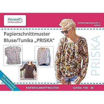 Amazon.de: Schnittmuster auf Papier für eine Bluse / Tunika \