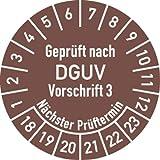 Prüfplakette Geprüft nach DGUV V3 ..., 2018 - 2023, Dokumentenfolie, Ø 3 cm, 100 St.