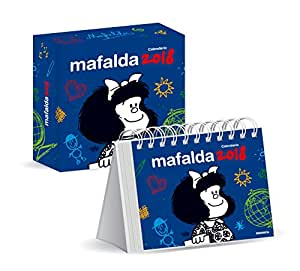 granica mafalda kalender desktop 2018 blau. Black Bedroom Furniture Sets. Home Design Ideas