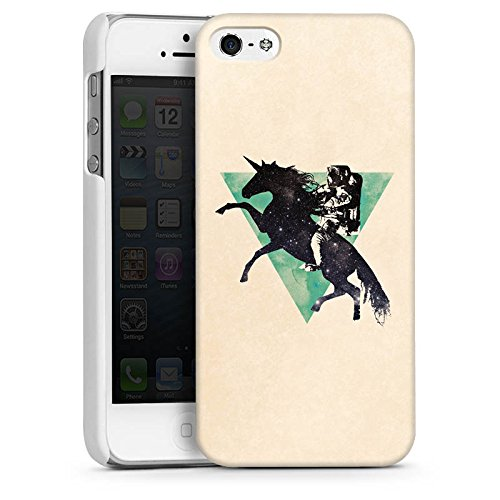 Apple iPhone 5s Housse Étui Protection Coque Triangle Triangle Triangle CasDur blanc