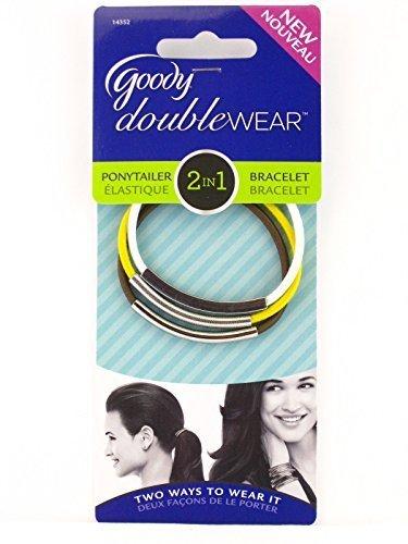 Goody Doublewear 2 In 1 Ponytailer/Bracelet - 3 Ct. (Brown/White/Yellow) by Goody