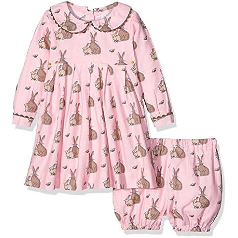 Rachel Riley Bunny Flannel Dress & Bloomers, Vestito Bimbo