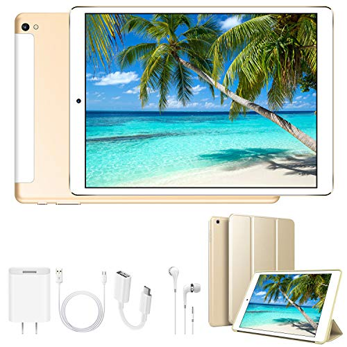 tablet otg 4G Tablet 10.1 Pollici WiFi 32GB ROM 3GB RAM 3 Slot Android 8.1 Quad-Core Batteria 8500mAh Dual SIM Bluetooth / GPS / OTG 8MP Camera Tablet Sbloccato DUODUOGO G12