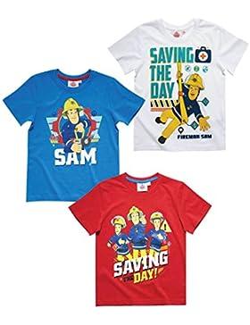 Sam el bombero Chicos Camiseta manga corta - Rojo