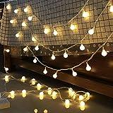 SnowX LED Lichtervorhang Lichter, LED Lichterkette, Weihnachtsbeleuchtung, 8 Moduseinstellungen, Warmwei? Feenhafte Lichterkette für Indoor Outdoor Wanddekoration Hochzeit Party Zuhause Garten