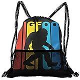 3D Printed Retro Bigfoot Silhouette Bundle Backpack,Drawstring Backpack Bags/Travelling Bag