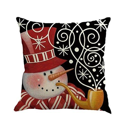ubabamama Weihnachten Schneemann Druck Färbe-Sofa Bett Home Decor Kissen Bezug Kissenbezug 45,7x 45,7cm h