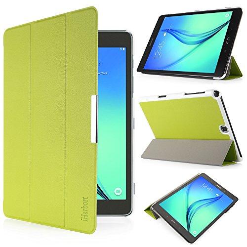 Tablet Cover Samsung 7 (iHarbort® Samsung Galaxy Tab A 9,7Schutzhülle Schutzhülle–Ultra Slim Schutzhülle Leder Schutzhülle mit Standfunktion für Samsung Galaxy Tab A 9,7Daumen SM-T555Cover Tasche Stand (Galaxy Tab A 9,7, grün))
