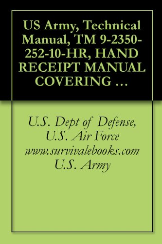 US Army, Technical Manual, TM 9-2350-252-10-HR, HAND RECEIPT MANUAL COVERING CONTENTS OF COMPONENTS OF END ITEM BASIC ISSUE ITEMS, (BII), AND ADDITIONAL ... military manuals on cd, (English Edition) M2 Dvd