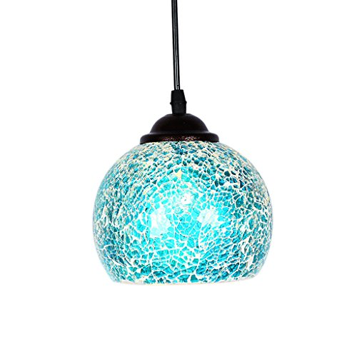 Baoblade Baoblaze Vintage Hanging Light Mosaic Design Pendant Ceiling Lampshade Stained Glass - 8#, as described