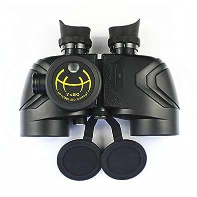 7x50 navigation au compas azote jumelles HD étanche oculaire grand télescope binoculaire High Tone