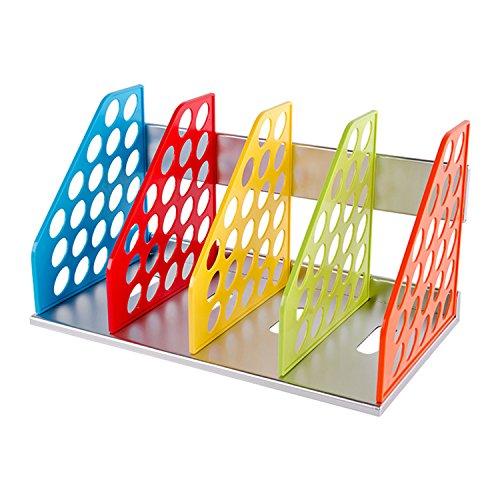 Regal Stauraum 4Schichten Modul-Ranking DIY aus Holz für Büro Wohnzimmer Ordner Papier A4Ordner Zeitschrift CD 32* 23* 27cm mehrfarbig (Stauraum Für Cds)