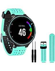 Para Garmin Forerunner 230 / 235 / 630 , Transer® Reloj de muñeca de silicona suave banda de reemplazo para Garmin Forerunner 230 / 235 / 630 (Menta verde)