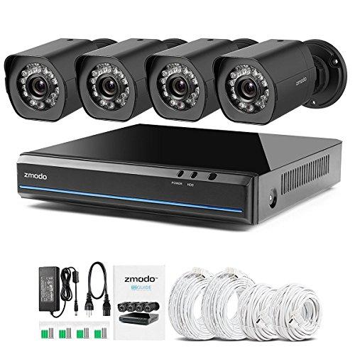 Zmodo-4-canales-1080P-HDMI-Videovigilancia-NVR-con-4-verdaderos-720P-HD-SPOE-cmaras-de-vigilancia-interiorexterior-resistente-a-la-intemperie