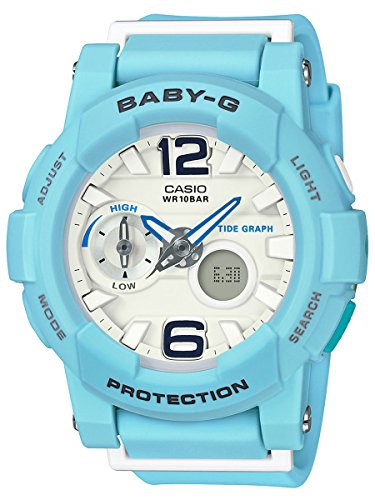 Casio Baby-G Women Light Blue Resin Ana-Digi Watch BGA180BE-2B
