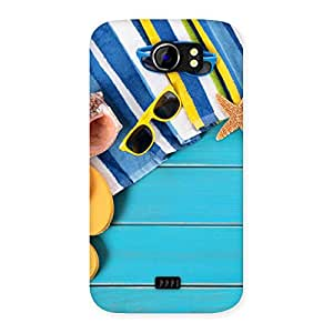 Delighted Cool Beach Print Back Case Cover for Micromax Canvas 2 A110
