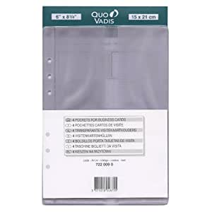 QUO VADIS Recharge Accessoires Organiseur POCHETTE CARTES VISITE Timer 21 15 x 21 cm
