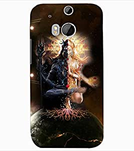 ColourCraft Lord ArdhNareshwar Design Back Case Cover for HTC ONE M8