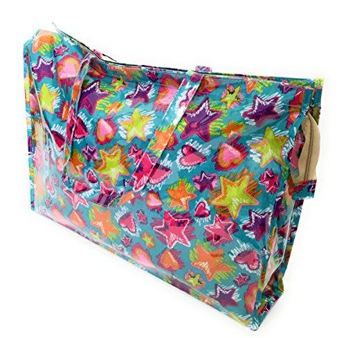 Bolso Grande Plástico Playa Compras Mujer Bolso Impermeable con Cremallera, Pop Art