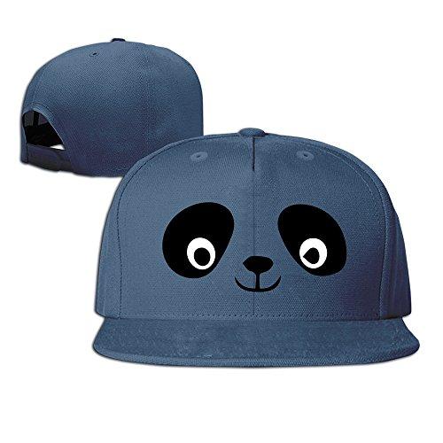 Bass Baumwolle Hut (hmkolo Panda Gesicht Baumwolle Baseball Cap Snapback HIP HOP Hat Unisex, unisex, navy)