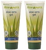 (2 Pack) - Aloe Pura - Aloe Vera Gel + Vit A C & E | 200ml | 2 PACK BUNDLE