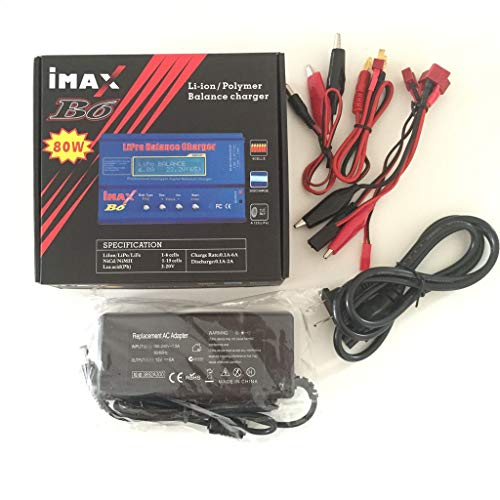 Skryo_ Electronics & Gadgets Skryo IMAX B6 LCD Bildschirm Digitales RC Ladegerät für Lipo NiMh Akku + Adapter CO (EU)