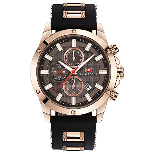 Orologi uomo di lusso orologio da polso al quarzo, impermeabile cronografo calendario casual date business watch mf0089g,#a