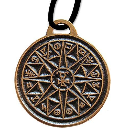 DarkDragon Anhänger Schutzkreis des Merkur Amulett Keltischer Anhänger mit Lederhalsband Schmucksäckchen und Karte - Schutz auf Reisen - 17