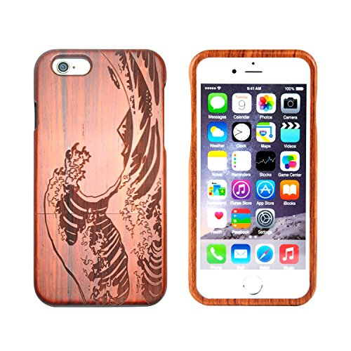 SunSmart iPhone 6/6s Holz Case Handy Cover aus Holz für iPhone 6/6s mit 4,7-Zoll-Display -05 IP6-4.7''-08