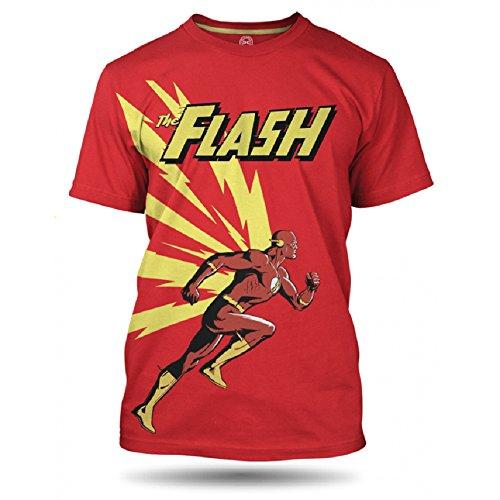 DC Comics Flash running Herren T-shirt, 100% Baumwolle Rot