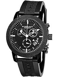631a63980b52 Burberry Sports Suisse de luxe Unisexe Homme Femme 40 mm rond en acier  inoxydable montre chronographe