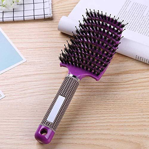 KHKJ Hair Comb Scalp Massage Comb Hairbrush Bristle&Nylon Women Wet Curly Detangle Hair Brush for Salon Hairdressing Styling Tools