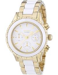 DKNY  NY8830 - Reloj de cuarzo para mujer, con correa de acero inoxidable, color dorado