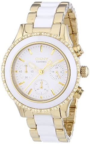 DKNY NY8830 Women's Watch Quartz Chronograph Stainless Steel Bracelet, Multi-Colour
