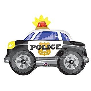 Amscan 3367301Polizei Auto Junior Form Folie Ballon