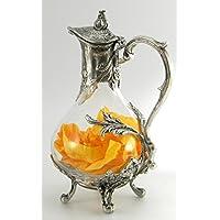 CAVAGNINI Decanter bottiglia in vetro e peltro. stile liberty Elegante Per Vini Rossi Acqua Vintage Prestigio Di grande bellezza e pregio Regalo