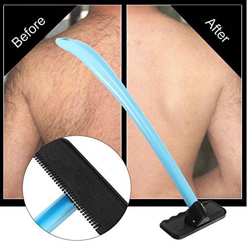 QJHP Zurück Haarentfernung Herren Handheld Schmerzlos Rasierer Mach Es Selbst Zurück Haar Rasierer Einfach Zu Verwenden, Nass Oder Trocken