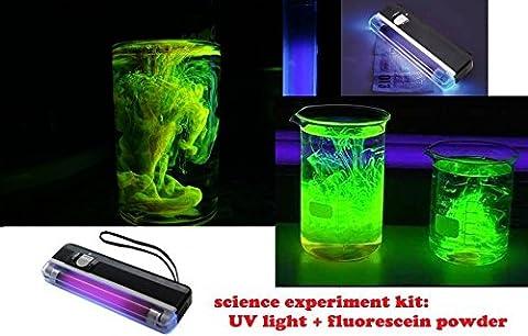 kit 2g de fluorescéine + lampe ultra violet UV lumiere