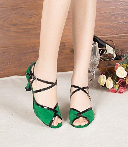 Minitoo ,  Damen Jazz, modern Green-6cm Heel