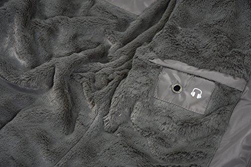Navahoo – Parka invernale da donna caldo e foderato in morbido tessuto e pelliccia B327 Grau