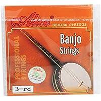 """Alice .023""""/0.58mm Banjo g-3rd de acero chapado en cadena cuerdas para 4Cuerdas Banjo de repuesto parte"""