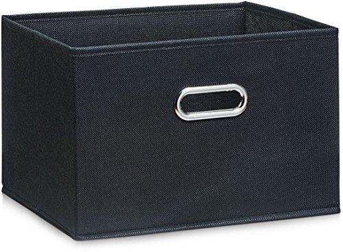 Zeller 14413 Aufbewahrungsbox, Vlies, schwarz, ca. 33 x 26 x 22 cm -